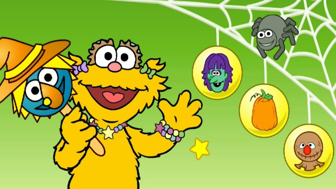Sesame Street Zoe's Halloween Dress Up Game - YouTube