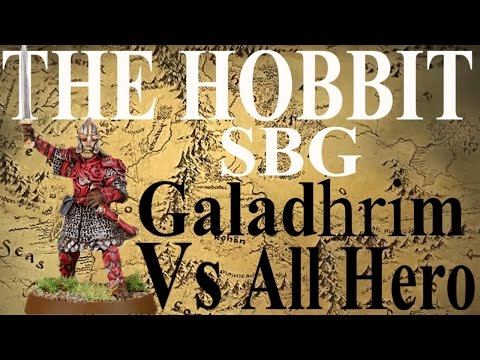 The Hobbit: Strategy Battle Game BATTLE REPORT Dos Rescue Galadhrim v all hero