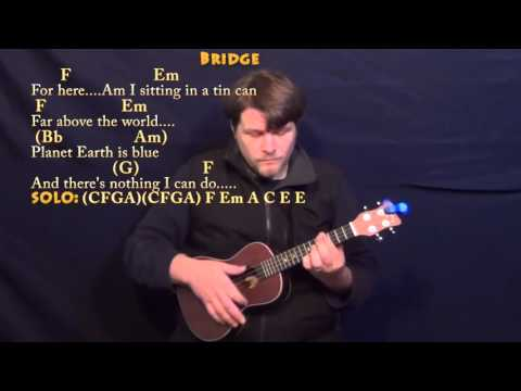Space Oddity (David Bowie) Ukulele Cover Lesson with Chords/Lyrics