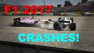 F1 2017 game crash compilation