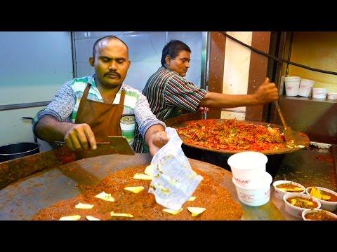 Indian Street Food - BUTTER CURRY BUN Pav Bhaji Mumbai India
