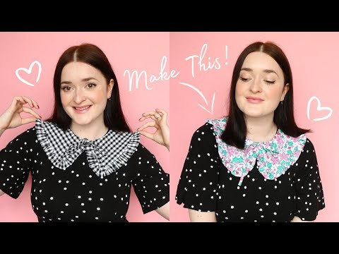 Sew Your Own Detachable Ruffle Collar (FREE PATTERN!) - YouTube