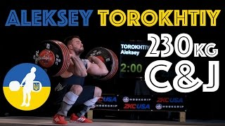 Aleksey Torokhtiy (105) - 230kg Clean and Jerk Slow Motion