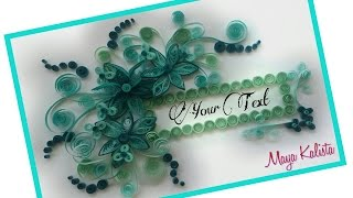 How to make DIY paper quilling Designs - greeting cards latest design handmade -  paper crafts!