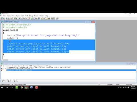 Escape Sequence , Comments , Temperature converter in C++ Urdu / Hindi
