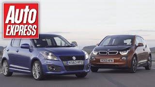 BMW i3 vs Suzuki Swift track battle
