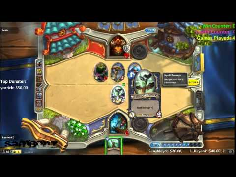 LiveStream - Hearthstone | [NA/US] Challenging the Chatroom ( ¬‿¬) (2 of 2)