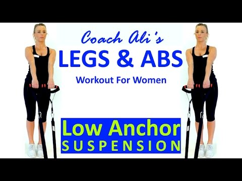 legs  abs workout for women  low anchor suspension