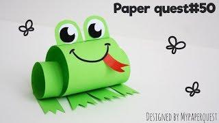 Лягушка из бумаги | Поделка для детей | Frog Paper craft for Kids