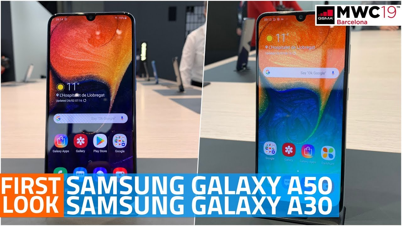 Samsung Galaxy A50, Galaxy A30 First Look | Price, Specifications, Camera,  and More