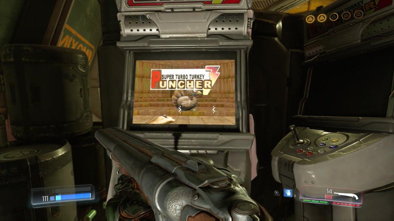 Doom 2016 Easter Egg Arcade Machine Puncher 3 - YouTube