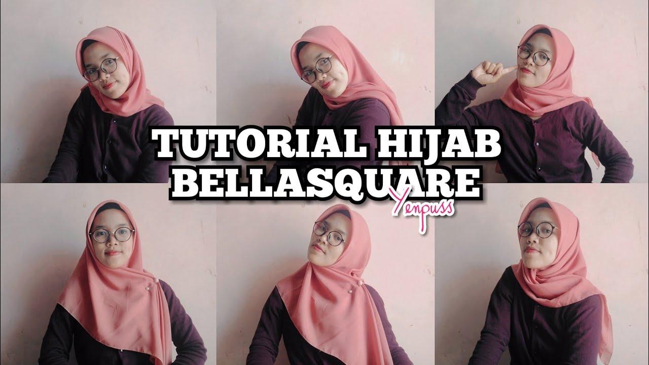 Tutorial Hijab Segiempat Bella Square Mudah Simple Pake Tuspin Berkacamata Simple Youtube