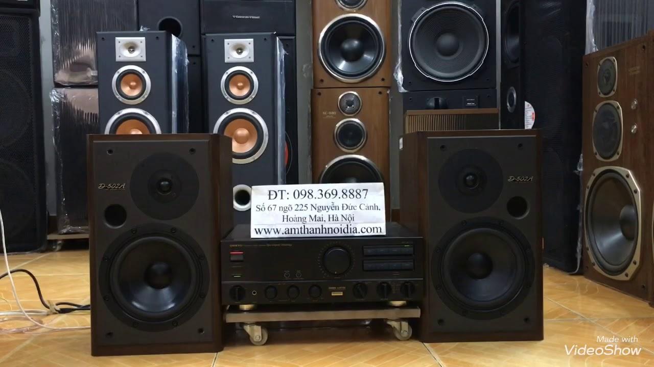 Giá êm 10 triệu để sở hữu trọn bộ loa onkyo bookshef đầu bảng d502A và amly onkyo japan Thắng Audio