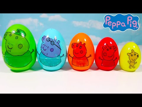 Learn Sizes and Colors with Peppa Pig Eggs