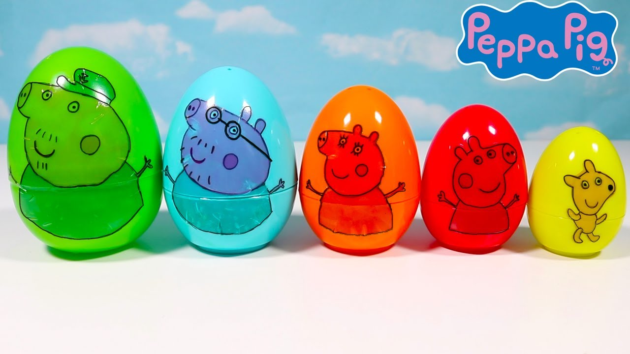 Download Learn Sizes and Colors with Peppa Pig Eggs