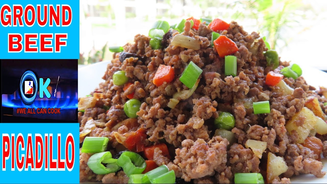 Ground Beef Picadillo Filipino Version Very Easy Youtube