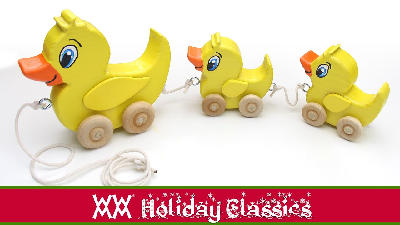 Make a wooden duck pull toy Classic toddler fun