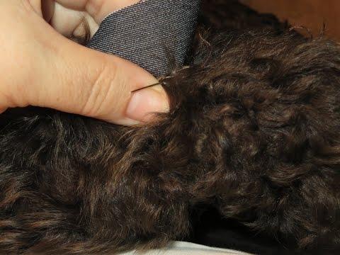 Как ремонтировать шубу своими руками  Зашиваем порванное  фото видео