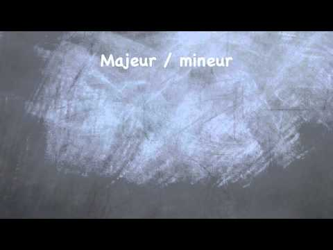 Gamme majeure / mineure