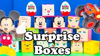 What is inside the Mickey Mouse and Frozen Surprise Boxes?