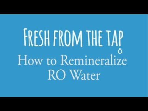 5 Ways To REMINeralize Reverse Osmosis Water