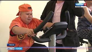 В Пензе прошел открытый урок по упражнениям на тренажерах для инвалидов