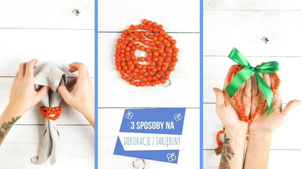 3 proste ozdoby z jarzębiny #jesień #diy #ozdoby