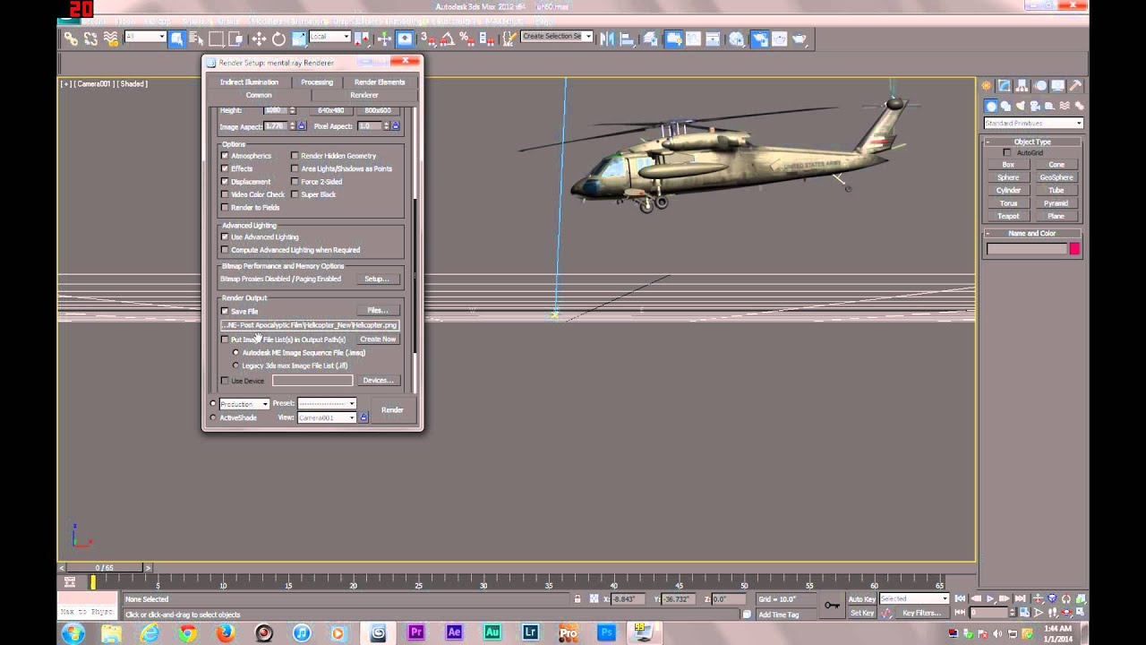 Line Drawing Render 3ds Max : Ds max tutorial rendering with transparent background