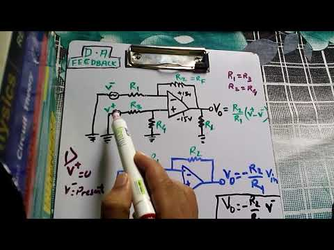 differential amp:(with feedback)derivation