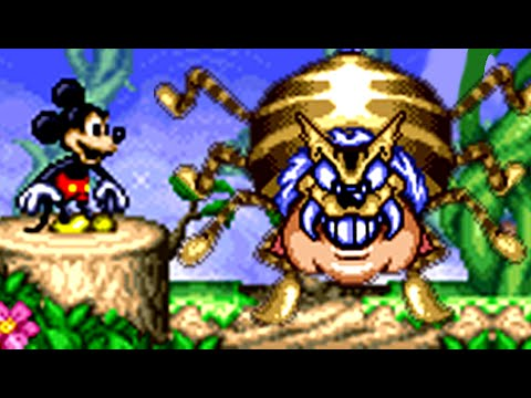 Magical Quest starring Mickey Mouse (SNES) All Bosses (No Damage)