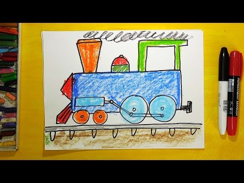 Как рисовать поезда