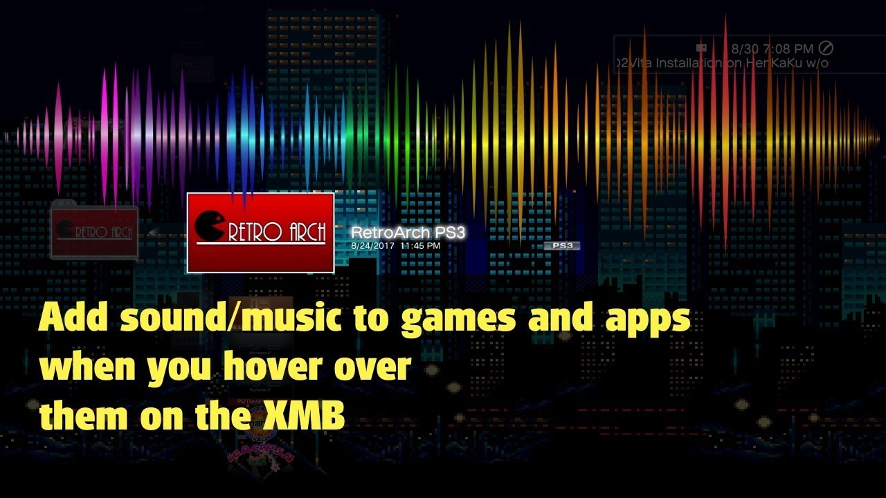 PS3 - how to create a SND0 AT3 file to add sound / music to games (PS1 PS2  PS3) and apps on XMB