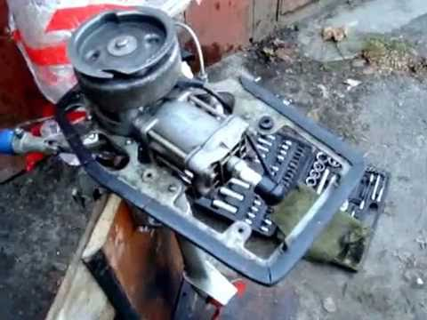 Лодочный мотор своими руками,гибрид салют+коса - YouTube