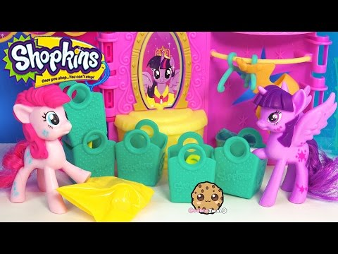 MLP Pinkie Pie & Princess Twilight Sparkle Unbox Shopkins Season 3  5 Pack With 1 Surprise Blind Bag