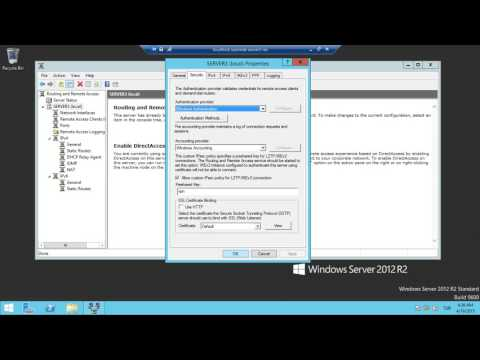 Server 2012- L2TP(LAYER 2 TUNNELİNG PROTOCOL) yapımı