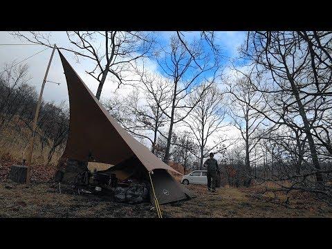 落葉樹に囲まれて季節の移ろいを感じるソロキャンプ【solo camping #48】