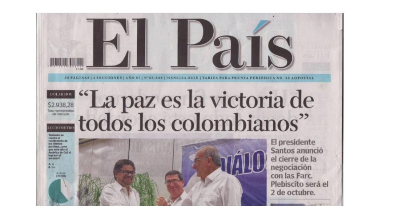 Paz Para El Mundo: La Paz De Colombia, Una Buena Noticia Para El Mundo