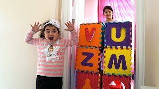 Masal sister Wall Joke with Colors Puzzle Cube Funny Kids Video