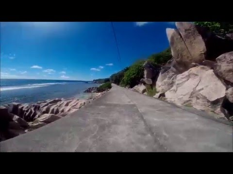 Seychelles - La digue- the island without cars - by bike - The north and west  side of La Digue.