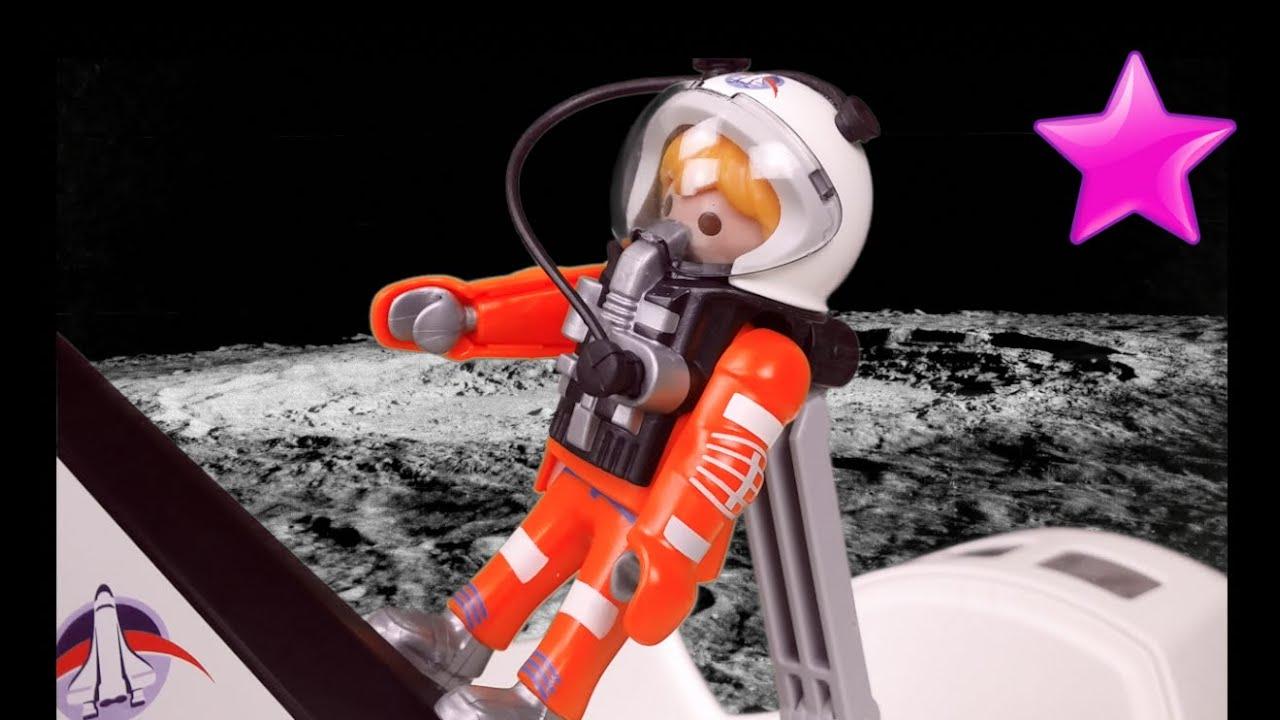 Playmobil en espa ol 5 lanzadera espacial en la luna for Nave espacial playmobil