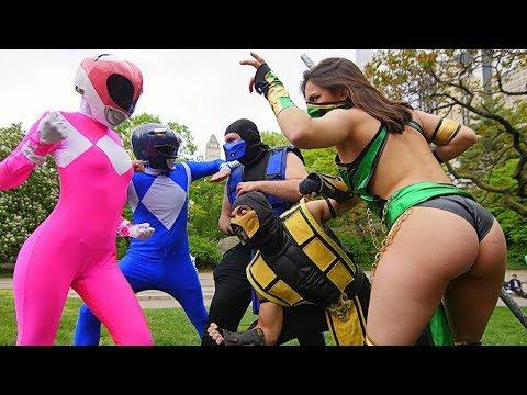 Power Rangers VS Mortal Kombat! Epic Battle! it's morphin time!