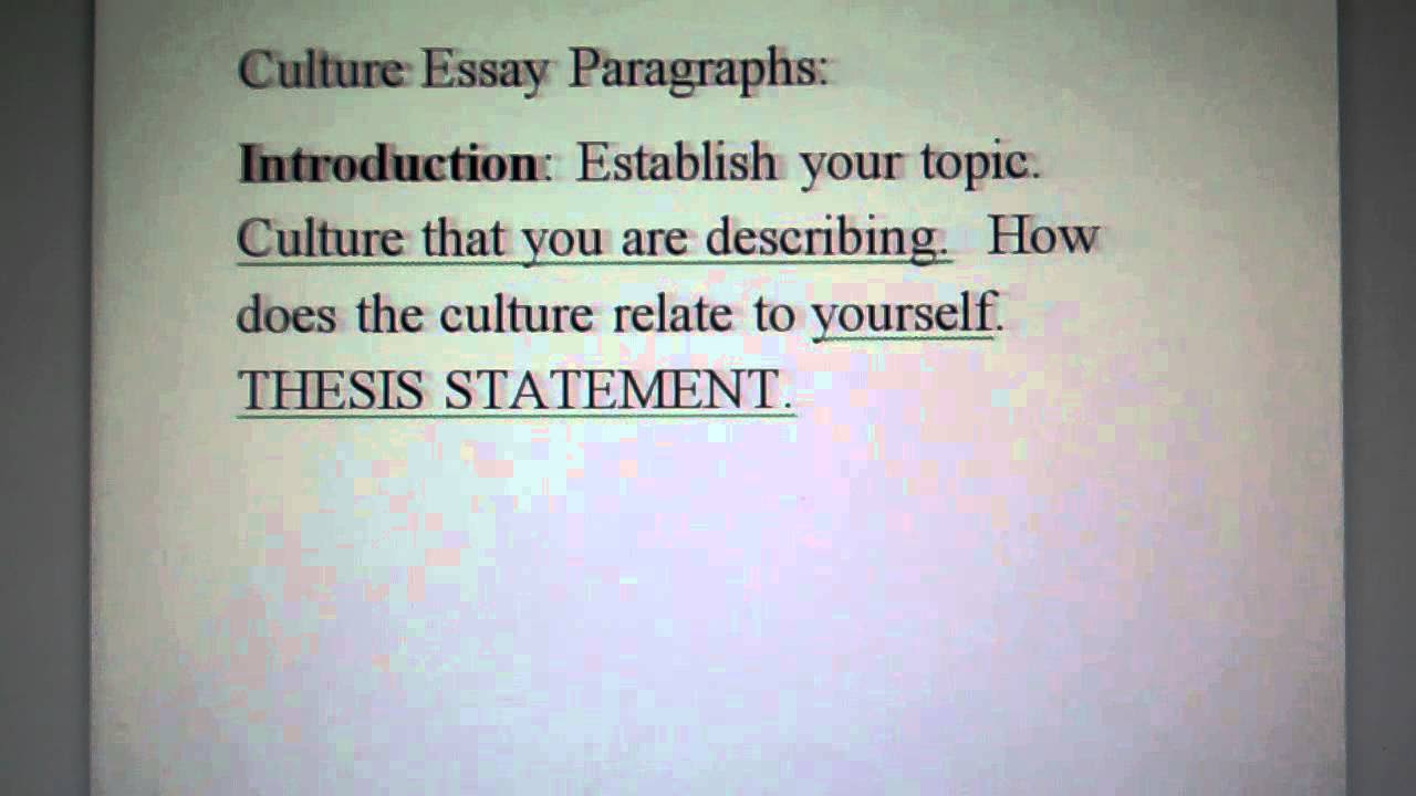 exemplification essay thesis