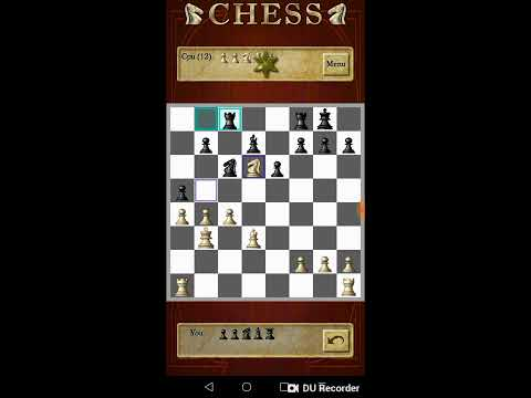 I DEFEATED A LEVEL 12 AI CPU IN CHESS FREE!!! (Hardest Mode)