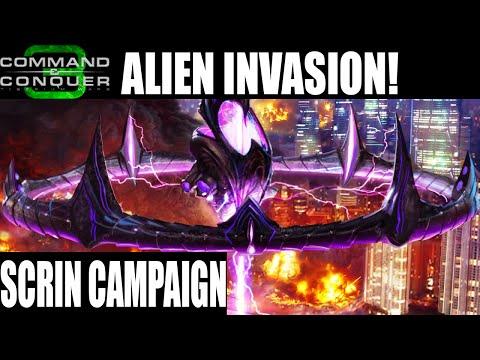 Let`s Play Command & Conquer 3: Tiberium Wars Scrin Campaign Part 1 Alien Invasion!