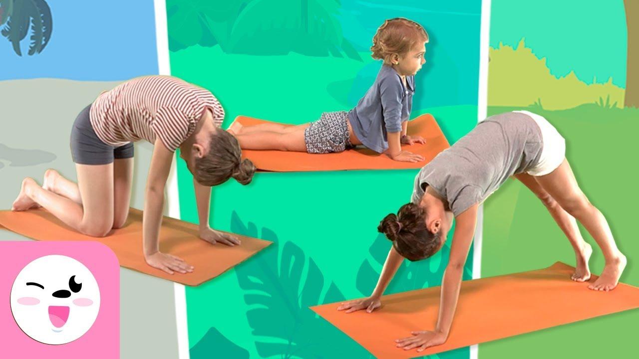 Yoga Para Ninos Las Posturas De Los Animales Tutorial Para Practicar Yoga Youtube