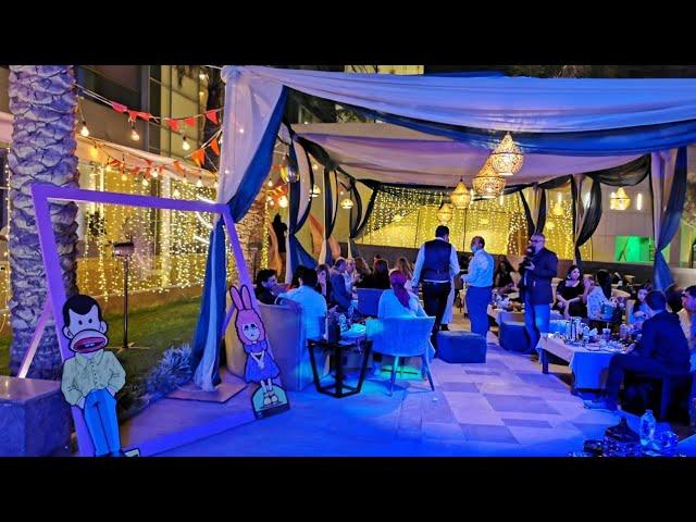 شاهد لايف افتتاح خيمة شهرزاد بفندق ميريديان المطار