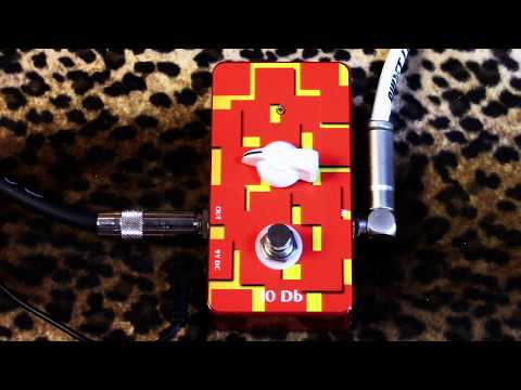 Doc Music Station 10db super clean boost pedal demoed with humbuckers