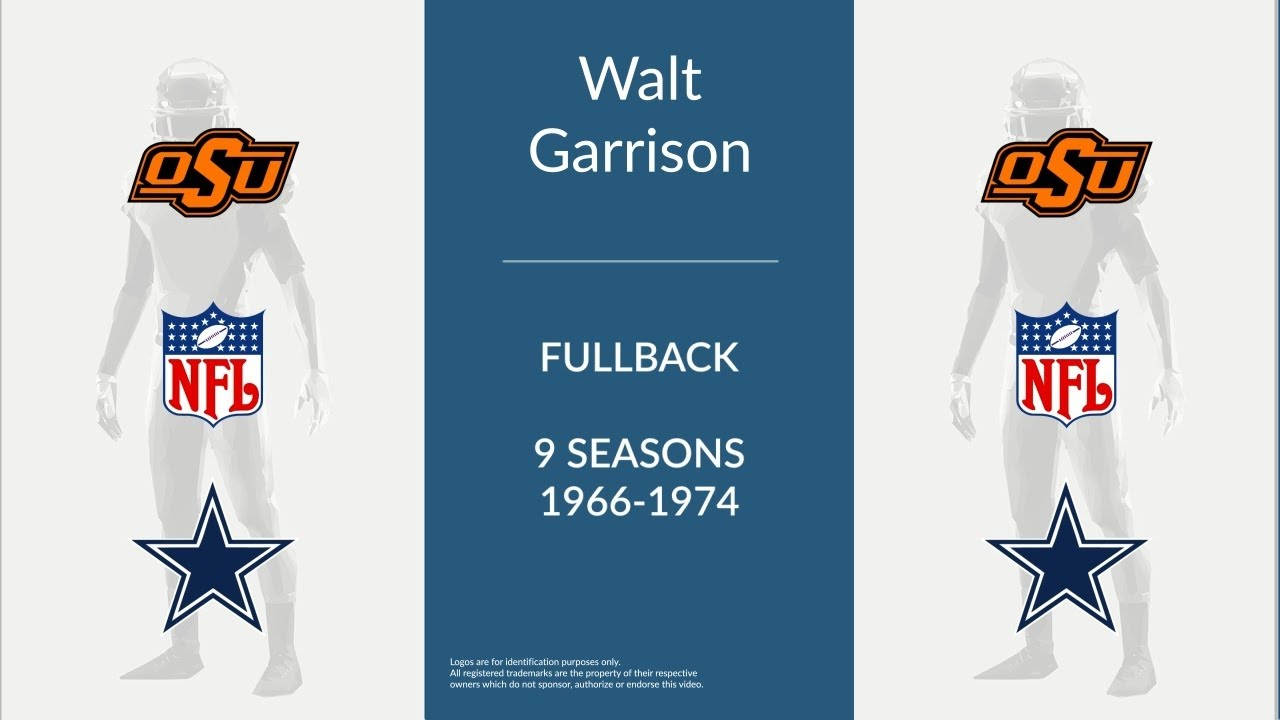 399677251c3 Walt Garrison: Football Fullback and Running Back - YouTube