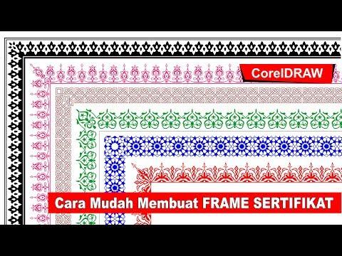 Cara Membuat Frame Sertifikat Dengan CorelDRAW Part 2