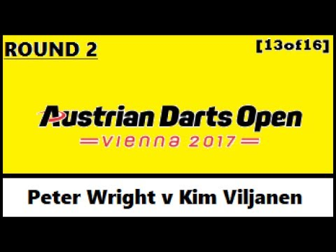 Round 2 [13of16] Peter Wright v Kim Viljanen - Austrian Darts Open 2017 HD